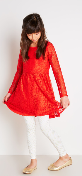 Lace Popover Dress Outfit
