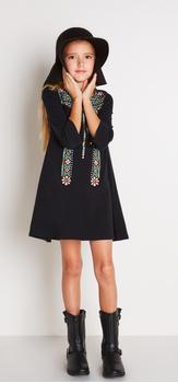 Black Boho Dress Outfit