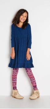 Indigo Tribal Dress Outfit