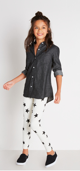 Black Chambray Star Outfit