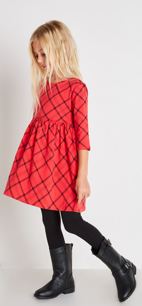 The Red Plaid Dress Outfit
