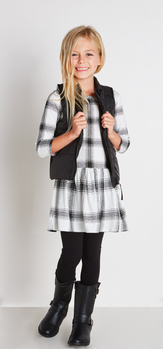 White Plaid Dress Outfit
