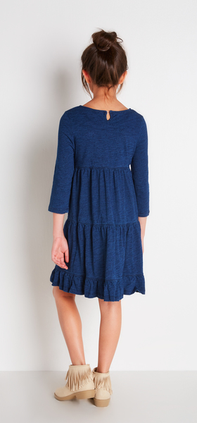 Indigo Tiered Dress Outfit