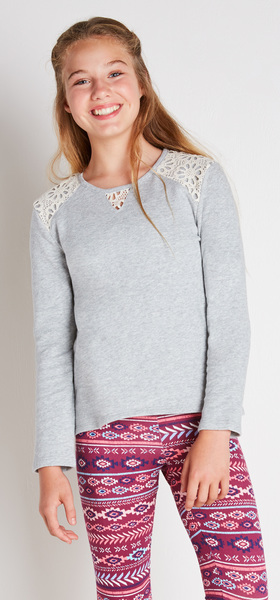 The Lace Sweatshirt Outfit