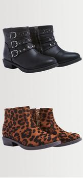 Leopard Moto Shoe Pack