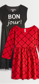 Bonjour Plaid Dress Pack