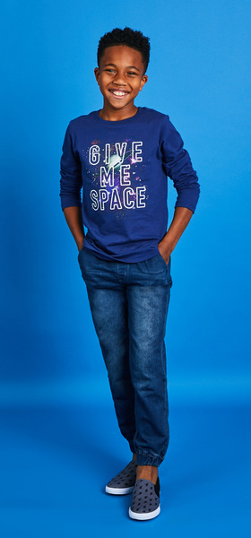 Give Me Space Denim Outfit