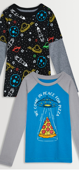 Space & Pizza Tee Pack