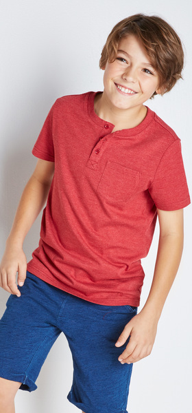f1e8336c73e7a6 Red Henley Outfit - FabKids