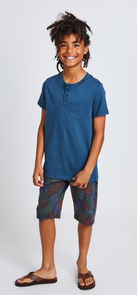 d6092810e9c351 Henley Palm Print Short Outfit - FabKids