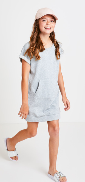 adf181312e The Grey Sweatshirt Dress Outfit - FabKids