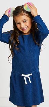 The Indigo Sweatshirt Headband Dress Outfit