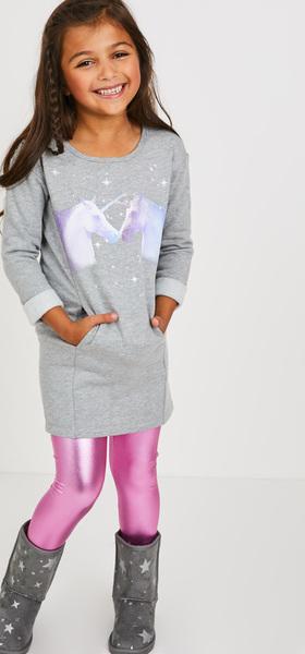 50ad09f961 Unicorn Sweatshirt Dress Outfit - FabKids