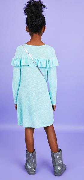 Softest Knit Ruffle Dress Outfit