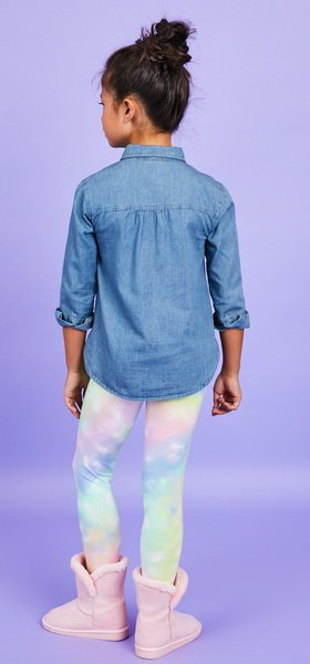 Chambray Rainbow Cloud Outfit