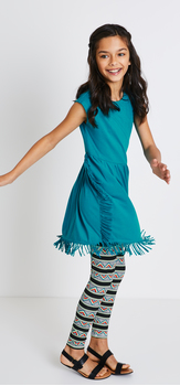 Fringe Geo Stripe Dress Outfit
