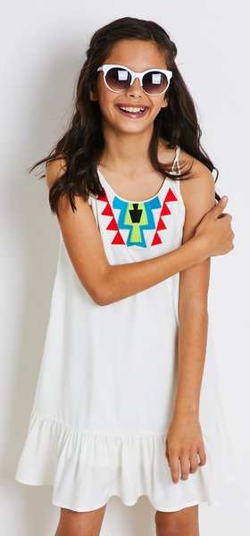 Embroidered Tank Dress Outfit