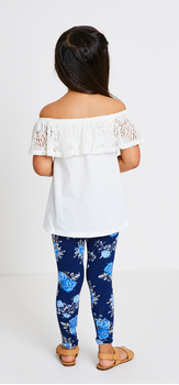 Lace Ruffle Top Floral Outfit