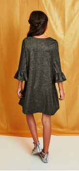 The Shimmer Bell Sleeve Dress Outfit
