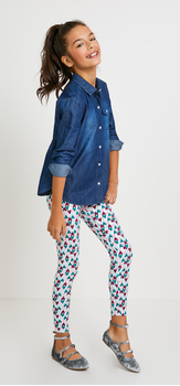 Chambray Heart Print Outfit