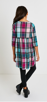 Plaid Baby Doll Dress Outfit
