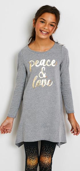 0e133c9d6d Peace   Love Sparkle Dress Outfit - FabKids