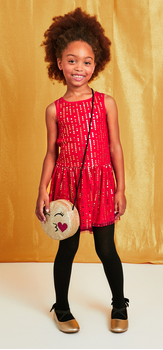 The Dot Tulle Red Dress Outfit