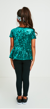 The Green Velvet Peplum Outfit