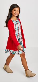 Plaid Dress Cardi Outfit