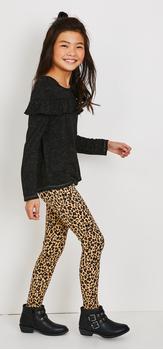 Metallic Ruffle Cheetah Outfit