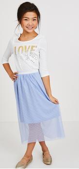 Love Tulle Overlay Skirt Outift