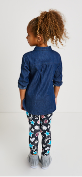 Chambray Doodle Star Outfit