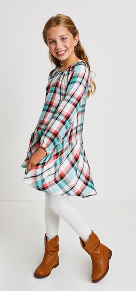 Dropwaist Plaid Dress Outfit