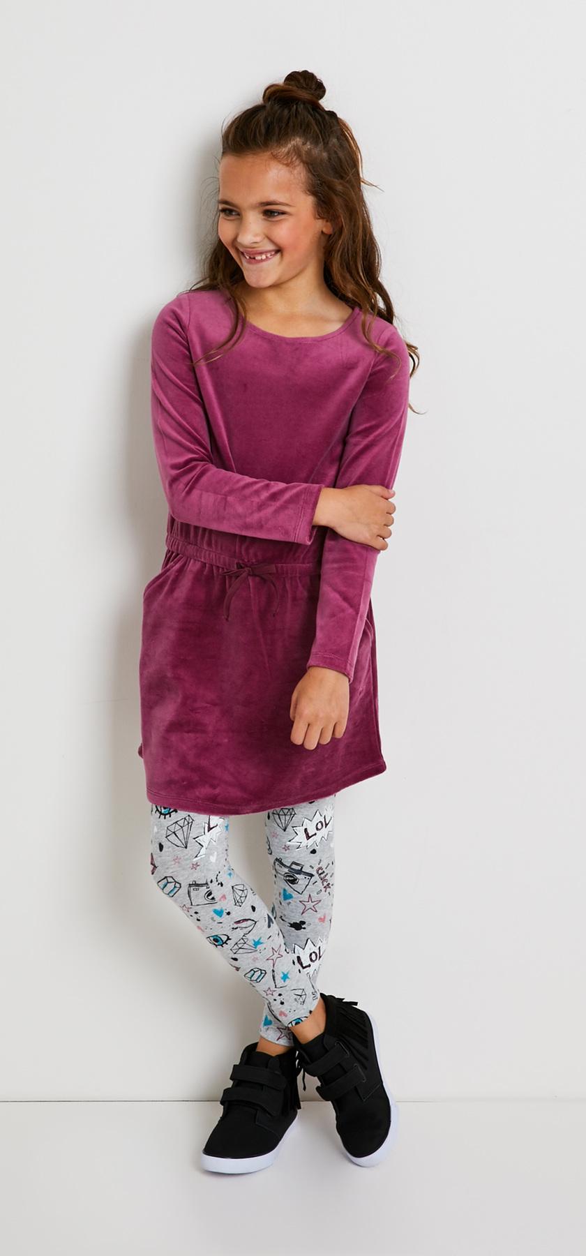a9b9a641d5 Velour Sweatshirt Dress Outfit - FabKids