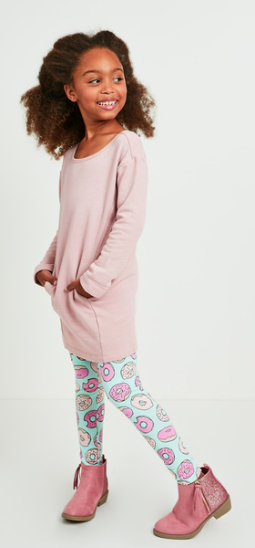 Donut Sweatshirt Dress Outfit