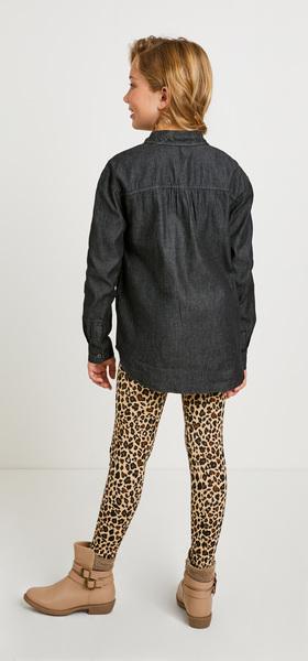 Black Chambray Cheetah Outfit