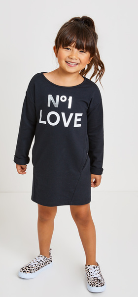 Love Sweatshirt Dress Outfit