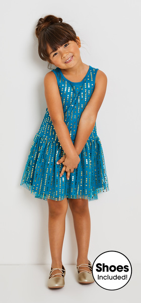 15152d38046 Dot Tulle Dress Outfit - FabKids