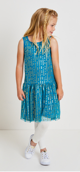 Dot Tulle Hi-Low Dress Outfit