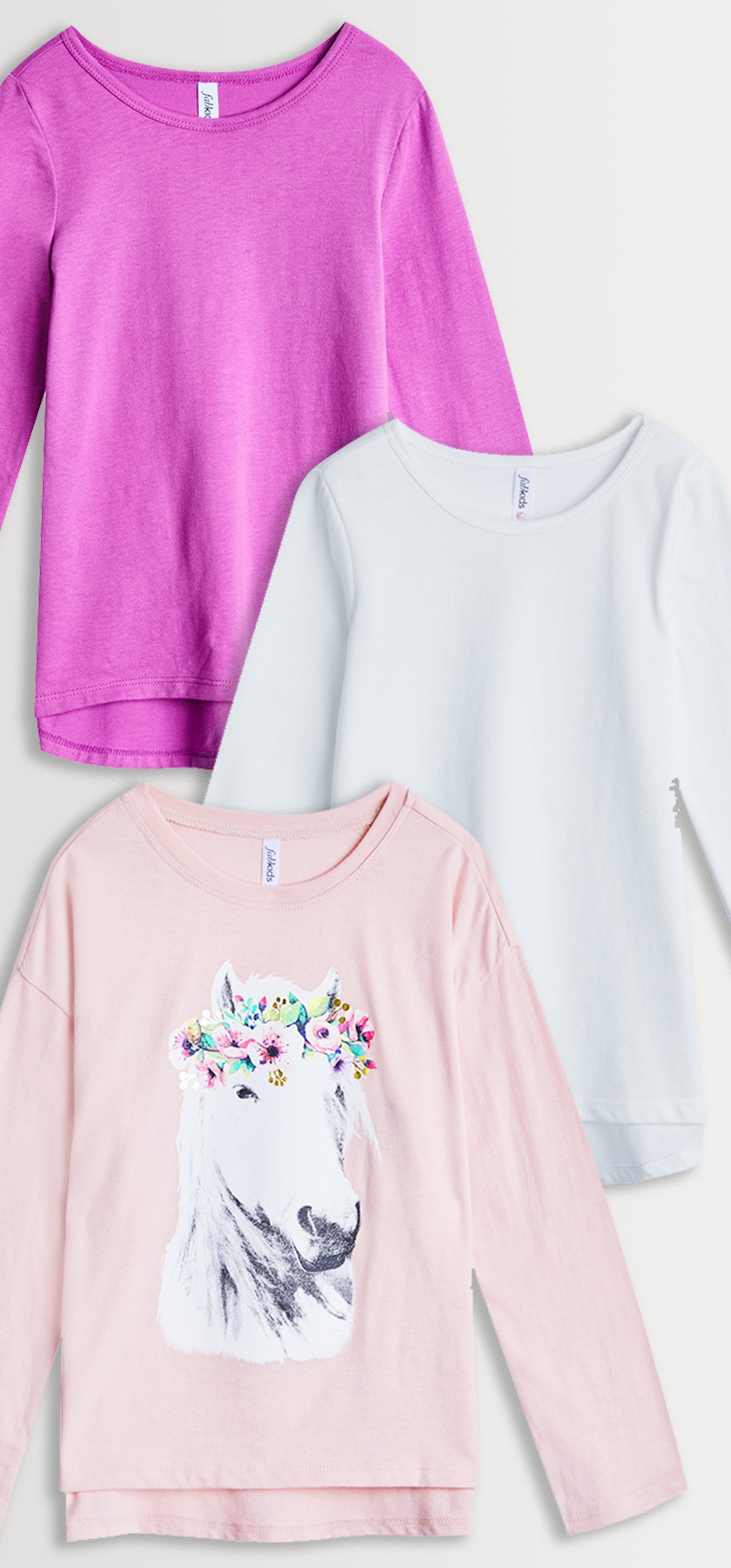 Flower crown horse tee 3 pack fabkids fabkidss standard terms of service regarding shipping returns and exchanges apply terms subject to change at any time without notice izmirmasajfo