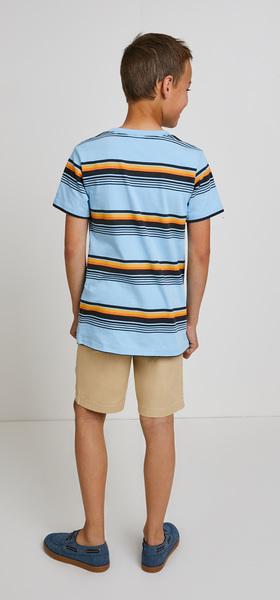 Retro Stripe Woven Short Outfit