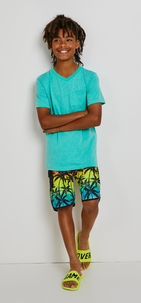 Basic Vee Palm Swim Outfit