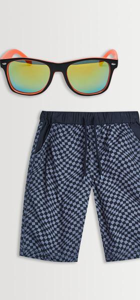 Checkered Swim Sunglasses Pack