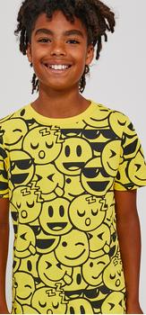 Emoji Print Denim Outfit