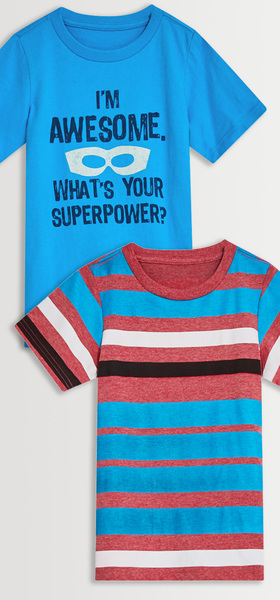 Superpower Stripe Tee Pack