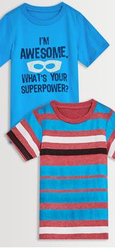 Superpower Stripe Tee Pack