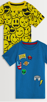 Emoji Graphic Patch Tee Pack