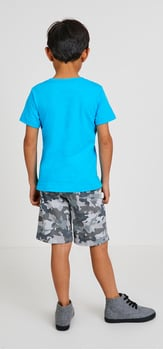 Blue Pocket Vee Camo Outfit
