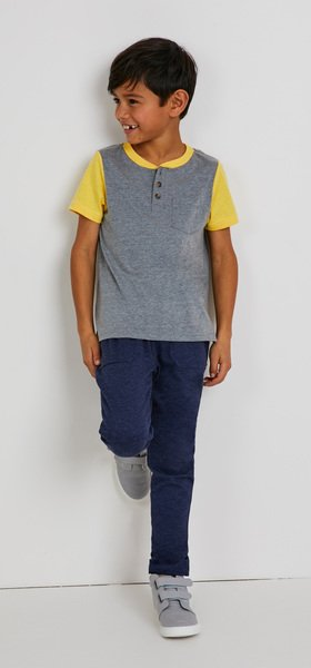 The Colorblock Pocket Henley Outfit
