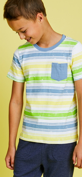 Multi-Stripe Pocket Outfit